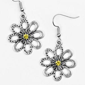 Fashion Floret - yellow earrings